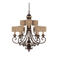 Capital Lighting Park Place 9 Light Chandelier in Champagne Bronze 3889CZ-406