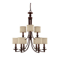 Capital Lighting Loft 9 Light Chandelier in Burnished Bronze 3919BB-450