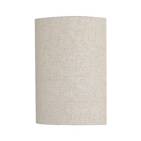 Capital Lighting Loft 1 Light Sconce in Burnished Bronze with Light Tan Fabric Shade 3927BB-625-GU