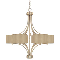 Luna 6 Light 30 inch Winter Gold Chandelier Ceiling Light