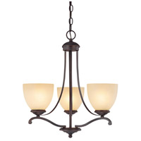Capital Lighting Chapman 3 Light Chandelier in Burnished Bronze with Tumbleweed Glass 3944BB-201