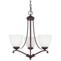 Chapman 3 Light 19 inch Burnished Bronze Chandelier Ceiling Light in Soft White