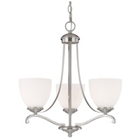 Capital Lighting Chapman 3 Light Chandelier in Matte Nickel with Soft White Glass 3944MN-202