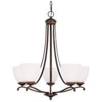 Chapman 5 Light 24 inch Burnished Bronze Chandelier Ceiling Light in Soft White
