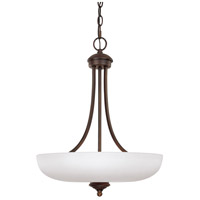 Capital Lighting 3948BB-SW Chapman 3 Light 18 inch Burnished Bronze Pendant Ceiling Light in Soft White photo thumbnail