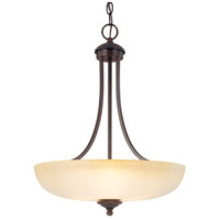 Capital Lighting Chapman 3 Light Pendant in Burnished Bronze with Tumbleweed Glass 3948BB-TW