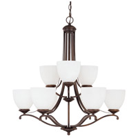 Capital Lighting Chapman 9 Light Chandelier in Burnished Bronze 3949BB-202