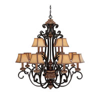 Capital Lighting Foxborough 12 Light Chandelier in Iron and Umber 3962IU-466