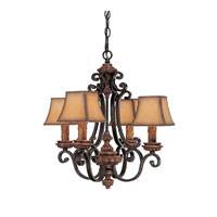 Capital Lighting Foxborough 4 Light Chandelier in Iron and Umber 3964IU-464