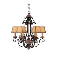 Capital Lighting Foxborough 6 Light Chandelier in Iron and Umber 3966IU-465 photo thumbnail