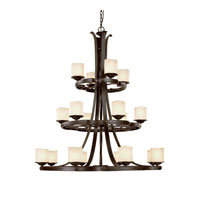 Capital Lighting Montana 18 Light Chandelier in Raw Umber with Candlelight Glass 3980RM-205