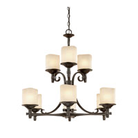 Capital Lighting Montana 9 Light Chandelier in Raw Umber with Candlelight Glass 3989RM-205 photo thumbnail