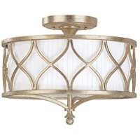 Fifth Avenue 3 Light 15 inch Winter Gold Semi-Flush Mount Ceiling Light