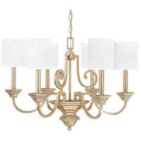 Capital Lighting Fifth Avenue 6 Light Chandelier in Winter Gold 4006WG-484