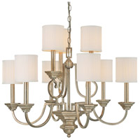 Capital Lighting Fifth Avenue 9 Light Chandelier in Winter Gold 4009WG-484