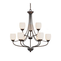 Capital Lighting Marlow 9 Light Chandelier in Burnished Bronze with Soft White Glass 4019BB-111 photo thumbnail
