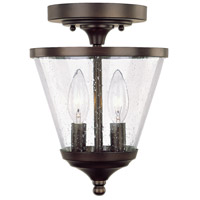 Capital Lighting Stanton 2 Light Foyer in Burnished Bronze with Soft White Glass 4032BB-236