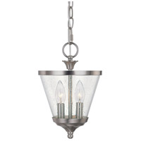 Capital Lighting Stanton 2 Light Foyer in Brushed Nickel with Soft White Glass 4032BN-236 photo thumbnail