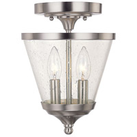 Capital Lighting Stanton 2 Light Foyer in Brushed Nickel with Soft White Glass 4032BN-236