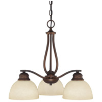Capital Lighting Stanton 3 Light Chandelier in Burnished Bronze with Mist Scavo Glass 4034BB-207
