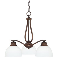 Stanton 3 Light 21 inch Burnished Bronze Chandelier Ceiling Light in Soft White