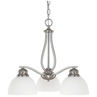 Capital Lighting Stanton 3 Light Chandelier in Brushed Nickel with Soft White Glass 4034BN-212