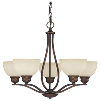 Capital Lighting Stanton 5 Light Chandelier in Burnished Bronze with Mist Scavo Glass 4035BB-207