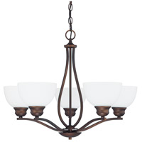 Stanton 5 Light 27 inch Burnished Bronze Chandelier Ceiling Light in Soft White