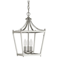 Stanton 3 Light 10 inch Polished Nickel Foyer Pendant Ceiling Light