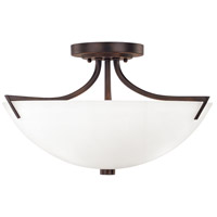 Stanton 3 Light 17 inch Burnished Bronze Semi-Flush Ceiling Light in Soft White