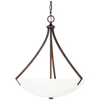 Stanton 3 Light 21 inch Burnished Bronze Pendant Ceiling Light in Soft White