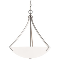 Capital Lighting Stanton 3 Light Pendant in Brushed Nickel with Soft White Glass 4038BN
