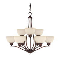 Capital Lighting Stanton 9 Light Chandelier in Burnished Bronze with Mist Scavo Glass 4039BB-207