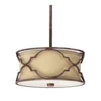 Capital Lighting Luciana 2 Light Pendant in Bronze with Gold Dust 4050BD-531