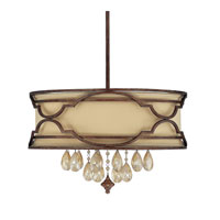 Capital Lighting Luciana 6 Light Pendant in Bronze with Gold Dust with Crystals 4056BD-529-CR