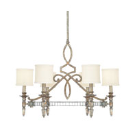 Capital Lighting Palazzo 6 Light Chandelier in Silver and Gold Leaf with Antique Mirrors 4086SG-535