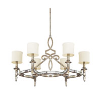 Capital Lighting Palazzo 6 Light Chandelier in Silver and Gold Leaf with Antique Mirrors 4087SG-535