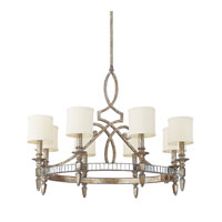 Capital Lighting Palazzo 8 Light Chandelier in Silver and Gold Leaf with Antique Mirrors 4088SG-535