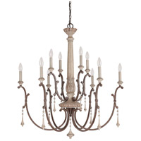 Chateau 10 Light 35 inch French Oak Chandelier Ceiling Light