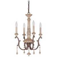 Capital Lighting Chateau 4 Light Chandelier in French Oak 4094FO