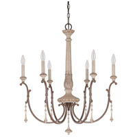 Chateau 6 Light 28 inch French Oak Chandelier Ceiling Light