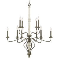 Capital Lighting 410301FC Nora 10 Light 36 inch French Country Chandelier Ceiling Light