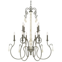 Vineyard 10 Light 37 inch French Country Chandelier Ceiling Light