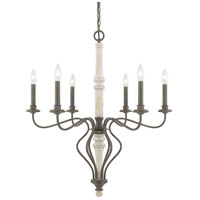 Nora 6 Light 28 inch French Country Chandelier Ceiling Light