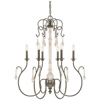 Capital Lighting Vineyard 6 Light Chandelier in French Country 410362FC