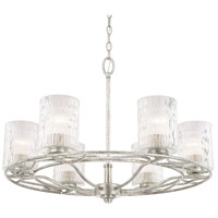 Capital Lighting 410661AS-301 Riviera 6 Light 28 inch Antique Silver Chandelier Ceiling Light