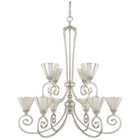 Capital Lighting Seaton 10 Light 38 inch Antique Silver Chandelier Ceiling Light
