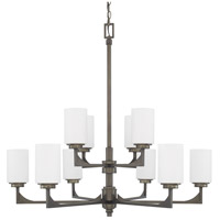 Flynn 10 Light 37 inch Gunmetal Chandelier Ceiling Light