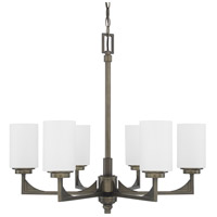 Flynn 6 Light 27 inch Gunmetal Chandelier Ceiling Light