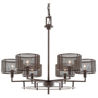 Bennett 6 Light 28 inch Russet Chandelier Ceiling Light